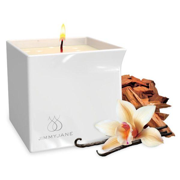 Candela da massaggio vaniglia e sandalo JimmyJane (1)