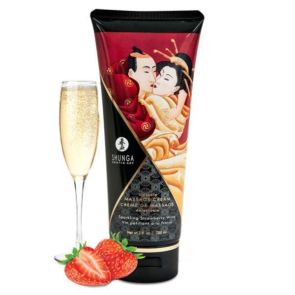 Crema da massaggio baciabile Fragola & Champagne - Shunga
