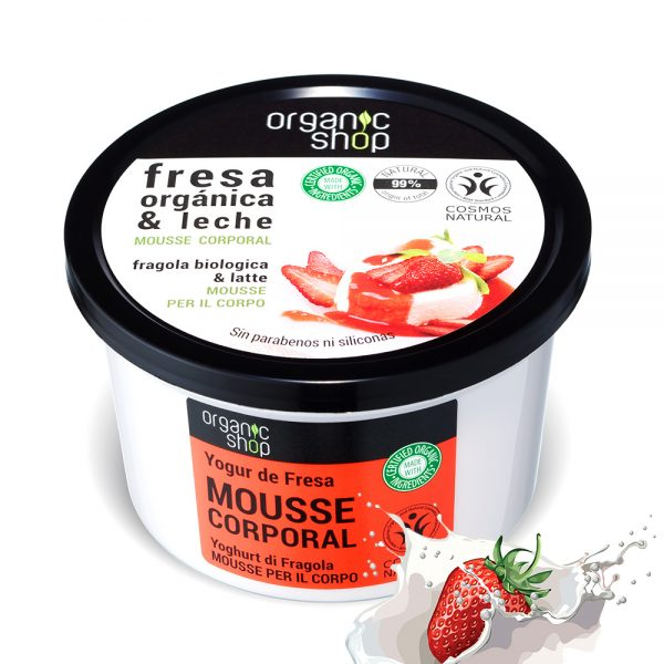 Mousse-Corpo-Idratante-Fragola-Biologica-Latte-Organic-Shop
