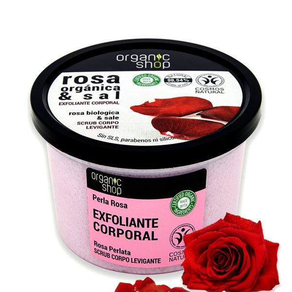 Scrub Corpo Levigante Rosa Biologica & sale - Organic Shop