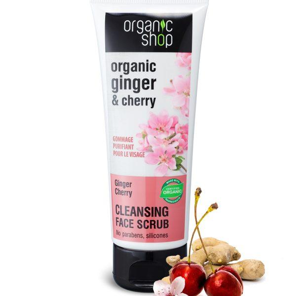 Scrub-viso-detergente-Zenzero-Ciliegia-biologici-Organic-Shop