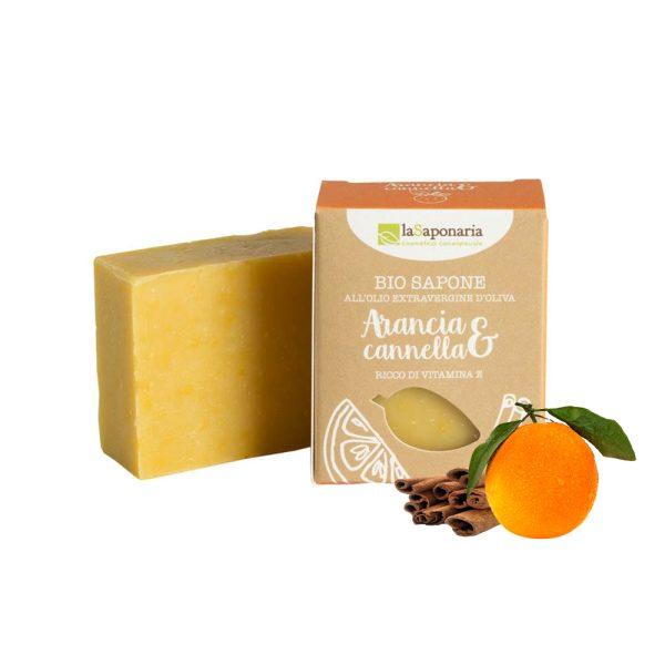 Sapone-biologico-arancia-cannella-LaSaponaria