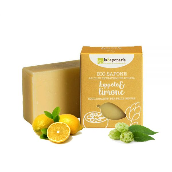 Sapone per pelli impure Luppolo & Limone - LaSaponaria