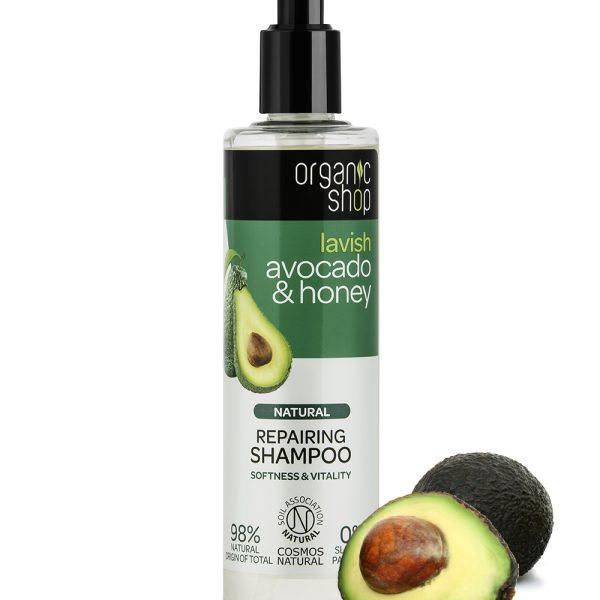 Shampoo-ristrutturante-Avocado-Miele-Organic-Shop