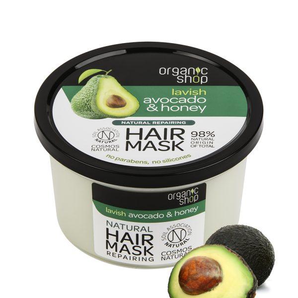 maschera-capelli-ristrutturante-avocado-miele-organic-shop