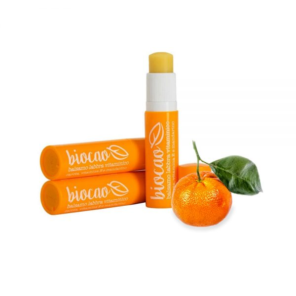 "Balsamo labbra vitaminico mandarino ""Biocao"" - La Saponaria"