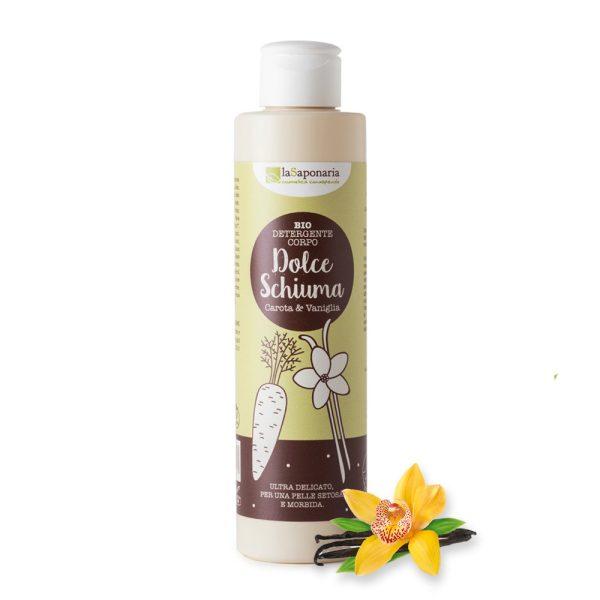 """Bio detergente corpo """"Dolce Schiuma"""" Vaniglia & Carota - La Saponaria"""
