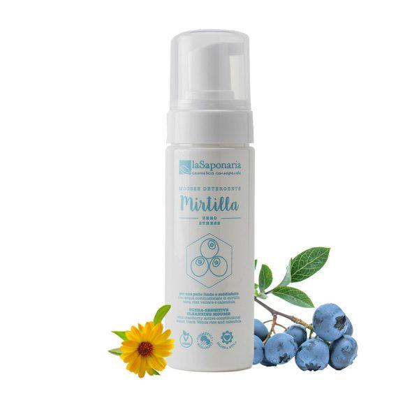 Mousse detergente per il viso Mirtilla - LaSaponaria