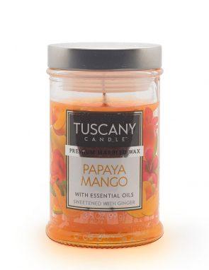 Candela profumata Papaya Mango papaya, dolce mango e zenzero Tuscany Candle