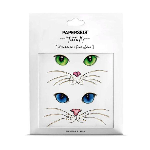 Cat Eyes Tatuaggi Temporanei Paperself