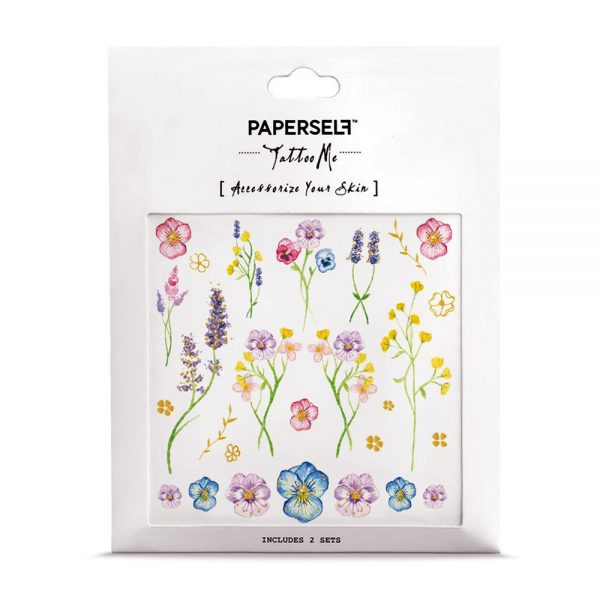 Flower Garden Tatuaggi temporanei Paperself