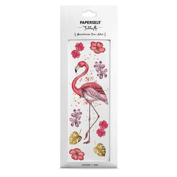 Tatuaggio temporaneo Flamingo Fenicottero rosa Paperself